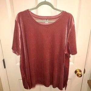 Pink Velvet Old Navy T-shirt XXL